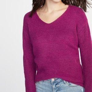 Old Navy Side Split Sweater - Raspberry